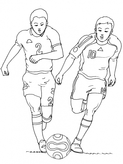 Coloriage Football 25