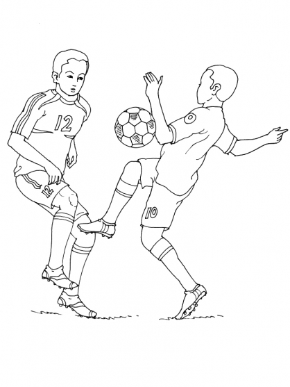Coloriage Football 26