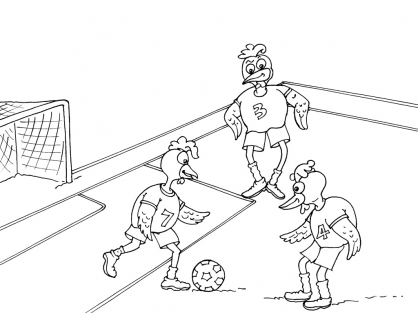 Coloriage Football 28