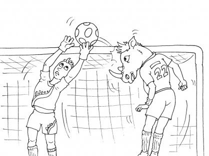 Coloriage Football 29