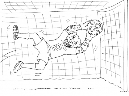 Coloriage Football 30
