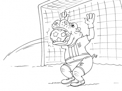 Coloriage Football 35