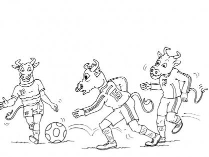 Coloriage Football 37