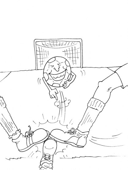 Coloriage Football 38
