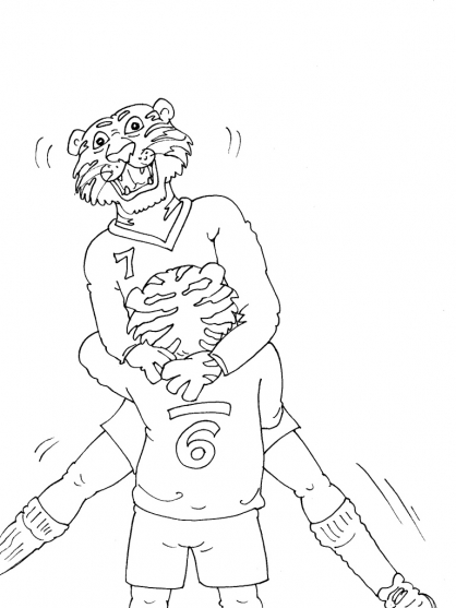 Coloriage Football 39