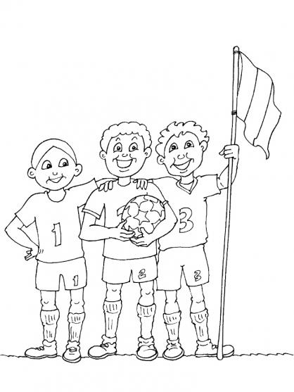 Coloriage Football 40
