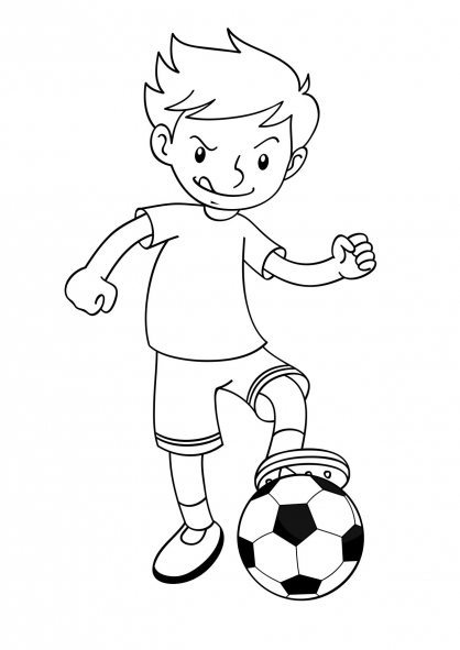 Coloriage Football 6
