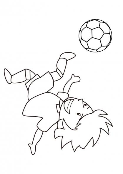 Coloriage Football 8