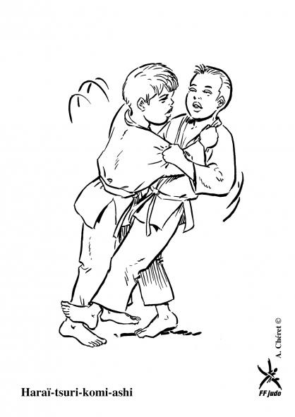 Coloriage Haraï-tsuri-komi-ashi