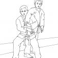 Coloriage Judo 1