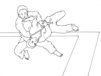 Coloriage Judo 10