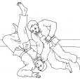 Coloriage Judo 14