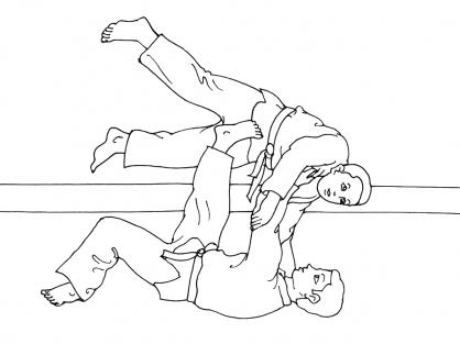 Coloriage Judo 15
