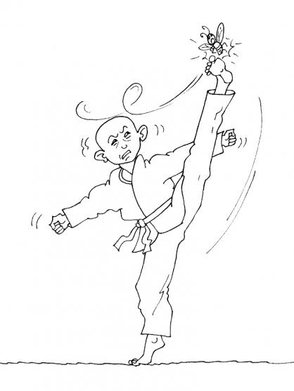 Coloriage Judo 19