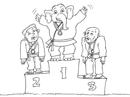 Coloriage Judo 22