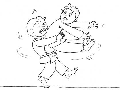 Coloriage Judo 26