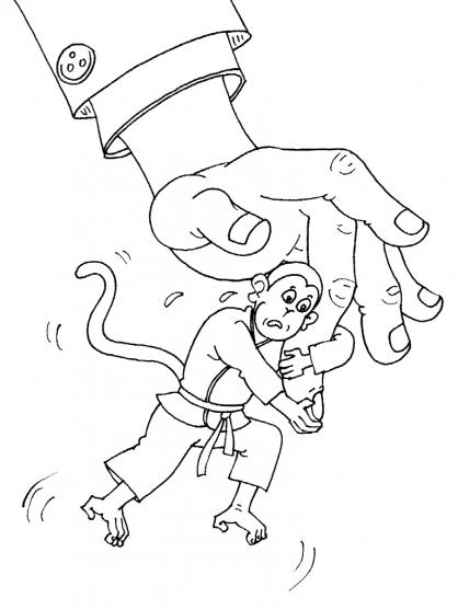 Coloriage Judo 29
