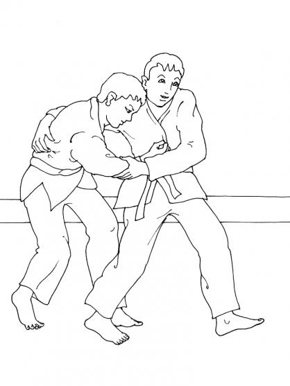 Coloriage Judo 4
