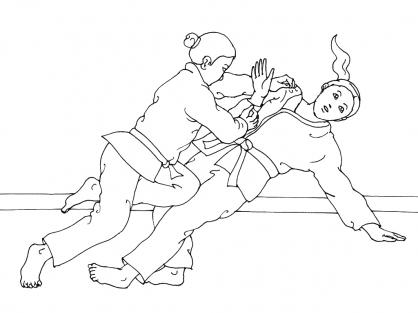 Coloriage Judo 5