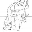 Coloriage Judo 6