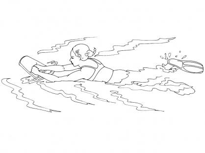 Coloriage natation 12 coloriage natation coloriage sports - Natation dessin ...
