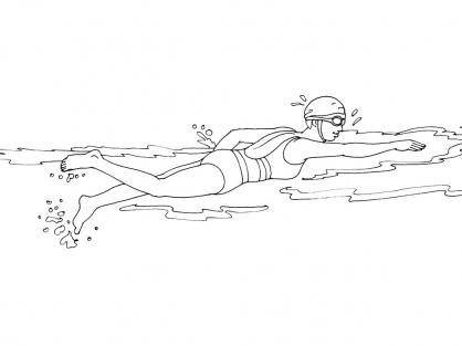 Coloriage natation 6 coloriage natation coloriage sports - Natation dessin ...