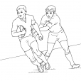 Coloriage Rugby 1