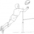 Coloriage Rugby 10
