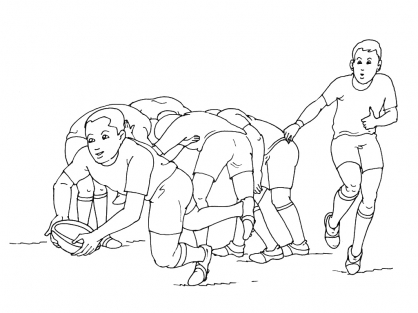 Coloriage Rugby 12