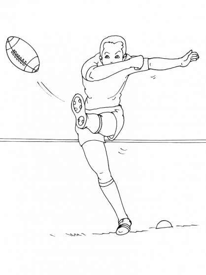 Coloriage Rugby 14