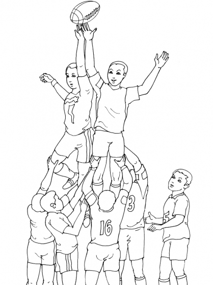 Coloriage Rugby 15