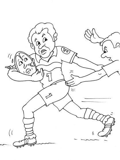 Coloriage Rugby 17