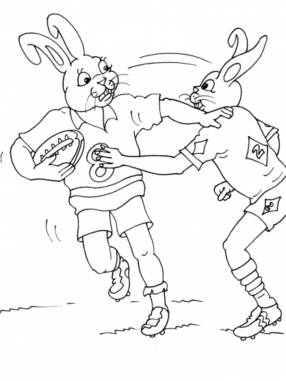 Coloriage Rugby 18