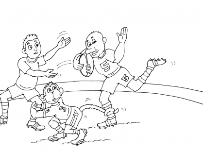 Coloriage Rugby 24