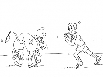 Coloriage Rugby 28