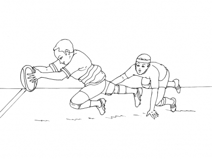 Coloriage Rugby 4
