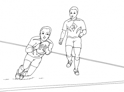 Coloriage Rugby 6