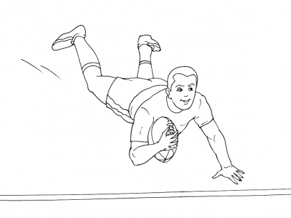 Coloriage Rugby 8