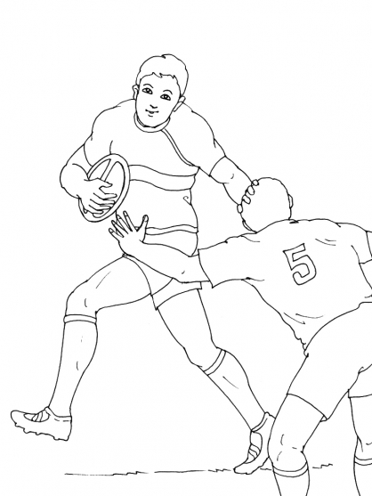 Coloriage Rugby 9