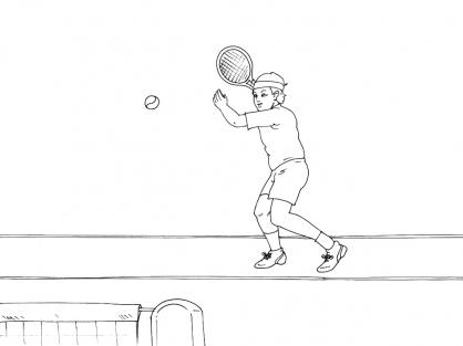 Coloriage Tennis 11