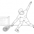 Coloriage Tennis 12