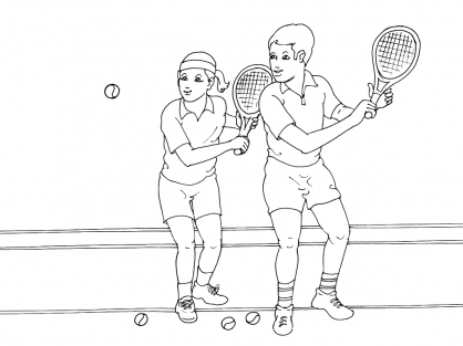 Coloriage Tennis 14