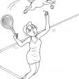 Coloriage Tennis 16