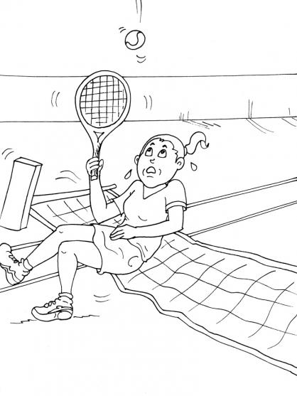 Coloriage Tennis 18