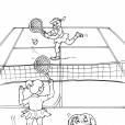 Coloriage Tennis 19