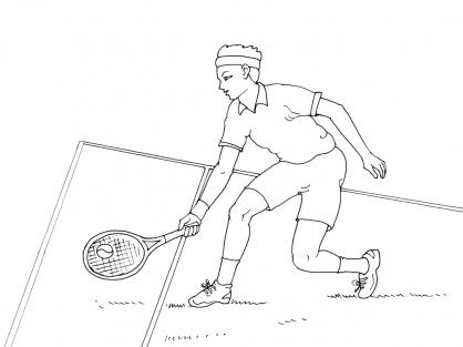 Coloriage Tennis 2