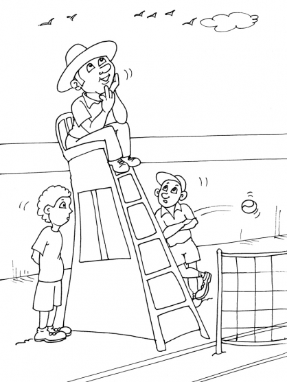 Coloriage Tennis 20