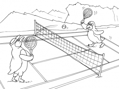 Coloriage Tennis 22