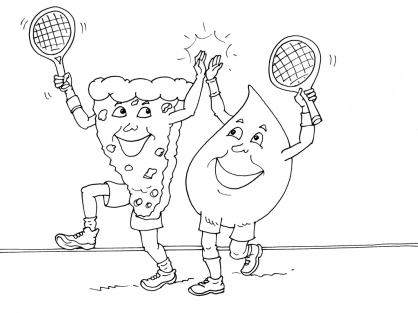 Coloriage Tennis 23