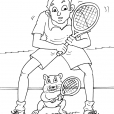 Coloriage Tennis 24